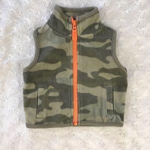 Carter's Fleece Vest Camouflage Green Orange Camo